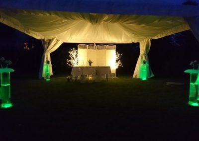 namiot z oświetleniem led