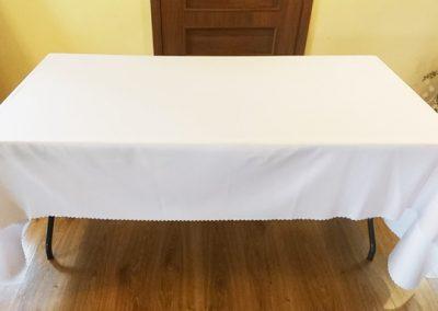 stół 160x80 z obrusem
