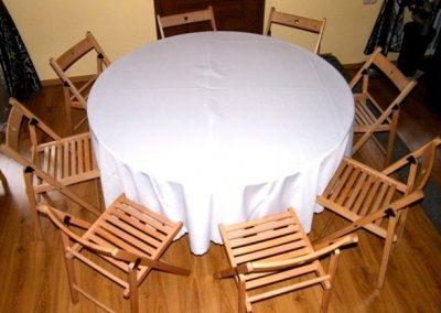 stół okrągły + 8 krzeseł