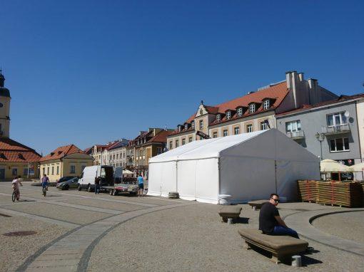 Podlaska Oktawa Kultur – namiot na garderoby